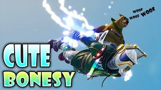 """MY PUPPY GETS ME A VICTORY ROYALE?? """"BONESY"""" MA PARTNER IN CRIME GAMEPLAY Fortnite"""
