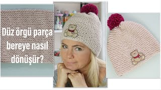 Bundan daha kolay örgü bere yok/ örgü bere şapka modelleri/ PON PON yapımı