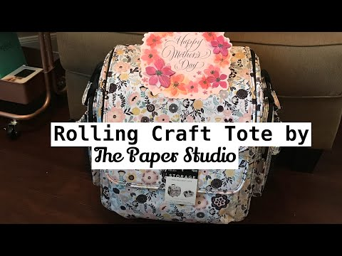 Rolling Craft Tote by The Paper Studio