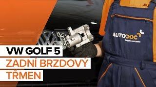 Montáž přední levý Brzdový třmen VW GOLF V (1K1): video zdarma