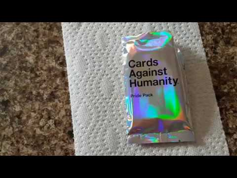 Cards Against Humanity Pride Pack With Glitter Youtube