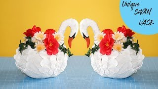 SWAN PLASTIC BOTTLE VASE | ANTIQUE SWAN VASE | DIY SWAN VASE |
