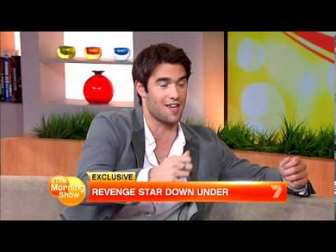 Revenge's Josh Bowman on Morning  in Sydney 30April 2012