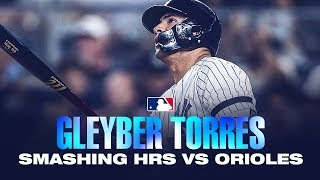 Yankees' Gleyber Torres' 13 home runs against the Orioles in 2019