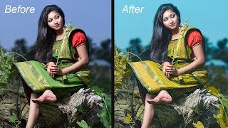 Photoshop CC Tutorial |  How To Adjust The Colors Using Camera Raw Filter In Photoshop CC