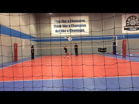 Nina Sharpton TBVA Volleyball with Felix Viera on Volleyball  How to Set A Volleyball