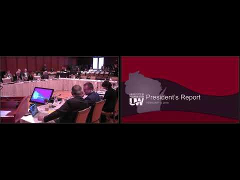 UW System Board of Regents Meeting February 9, 2018