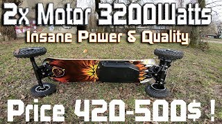 Best Cheap Off Road Skateboard H2C Insane Power 3200watts & Mega Quality