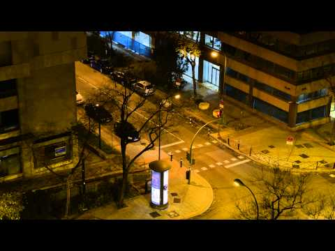 Time-lapse Madrid ( Paseo de la Castellana )