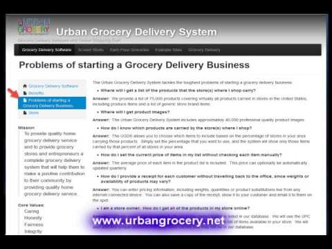 Overview of the Urban Grocery Delivery System
