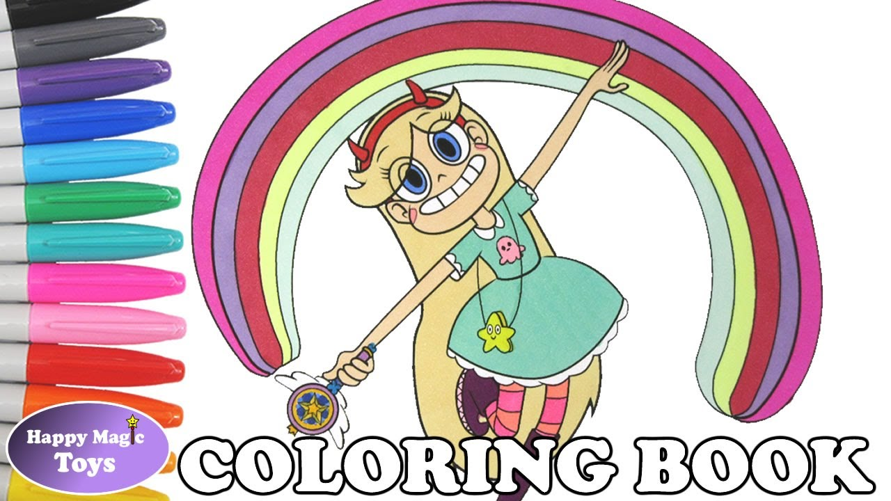 Star Vs The Forces Of Evil Coloring Book Pages Butterfly Svtfoe Kids Art
