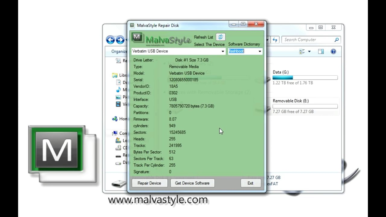 free software to repair usb flash drive