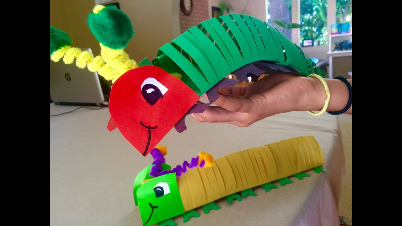 How To Make A Caterpillar That Moves Youtube