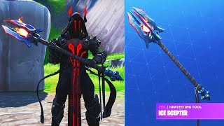 "THE ICE KING *TIER 100* PICKAXE UNLOCK! ""ICE SCEPTER"" The Ice King Challenges Fortnite Season 7"
