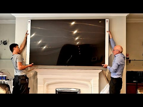 "85"" Samsung Q95T Unboxing and Wall Mount, Giant 4K HDR QLED TV"