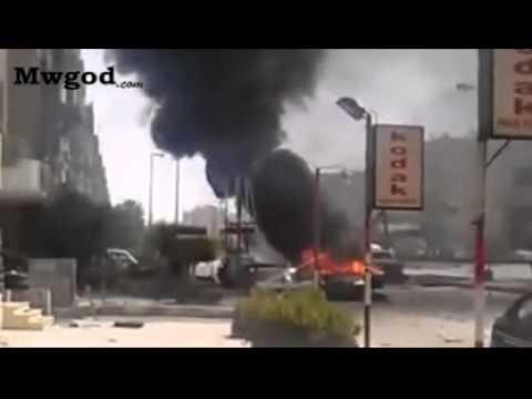 لحظة خروج وزير الداخلية وسط الحراسة بعد الانفجار وإطلاق النيران بكثافة
