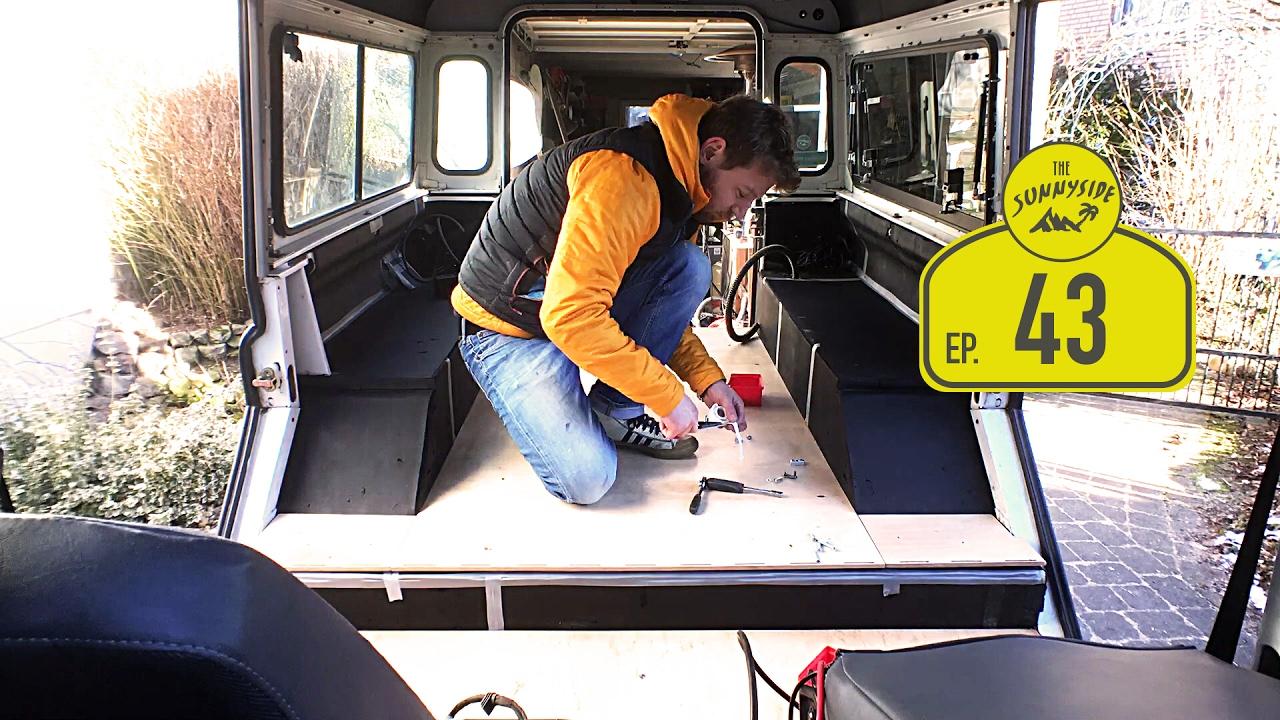 innenausbau verankern und elektrik verlegen teil 1 defender zum wohnmobil camper selber. Black Bedroom Furniture Sets. Home Design Ideas