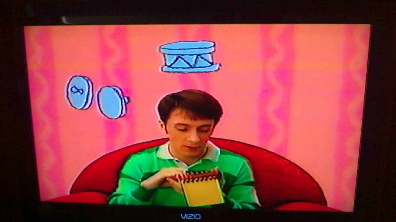 Blues Clues Thinking Time What Does Blue Want To Do On A Rainy Day