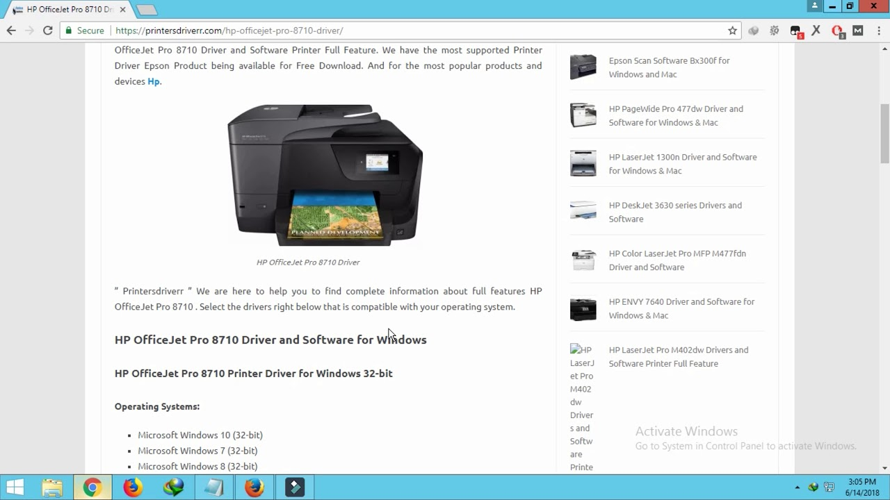 HP OfficeJet Pro 8710 Driver and Software for Windows & Mac