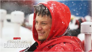 Patrick Mahomes shares his first snow game experience | Sunday NFL Countdown