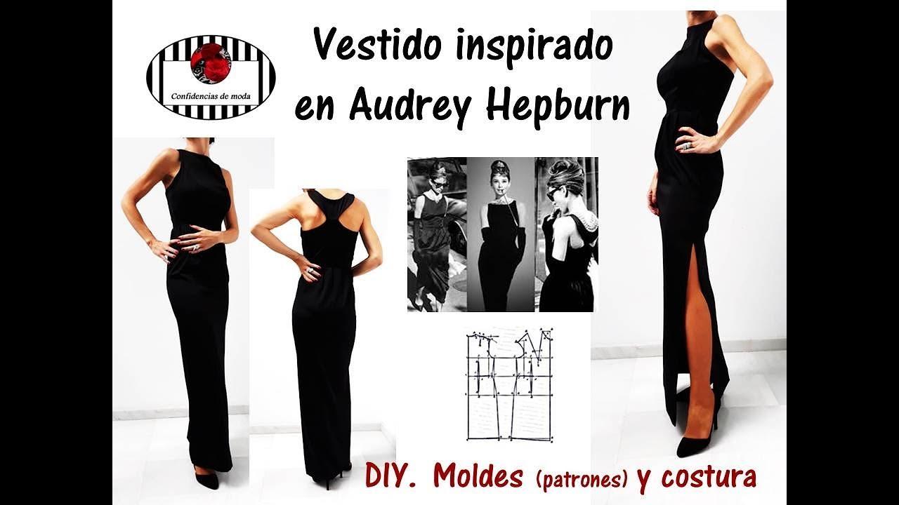 DIY . Vestido inspirado en Audrey Hepburn. Moldes (patrones) y ...