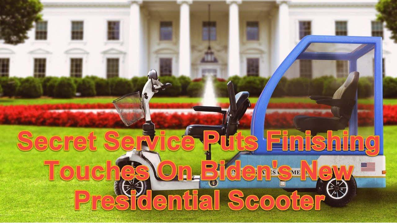 Secret Service Puts Finishing Touches On Biden's New Presidential Scooter