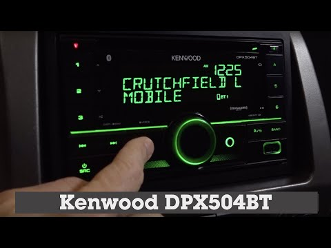 Kenwood DPX504BT Display and Controls Demo | Crutchfield Video