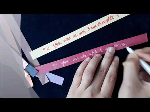 Origami stars with cute messages within/Paper craft for dummies.