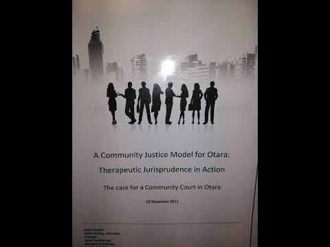 Karen Harding Lawyer: Social Needs & Crime in Otara & the need for a community court in Otara