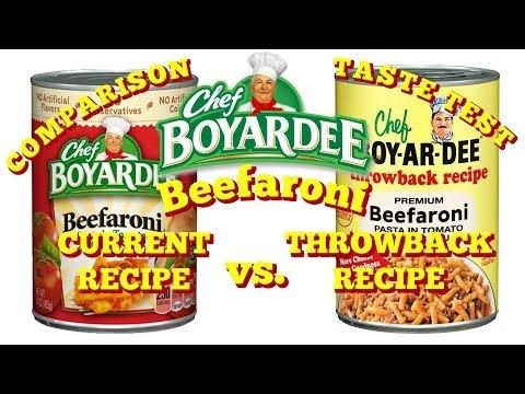 Taste Test: Chef Boyardee Beefaroni -- Throwback Recipe Vs. Current Recipe!!