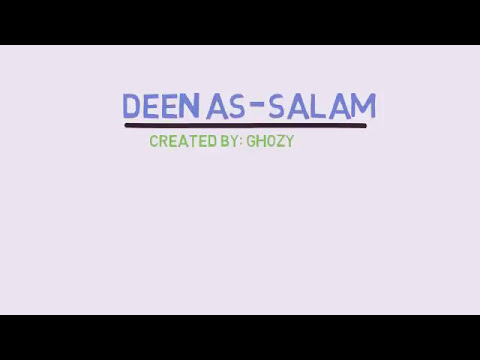 Deen as salaam(diin as salm), bank boubyan, lirik dan arti, video animasi.