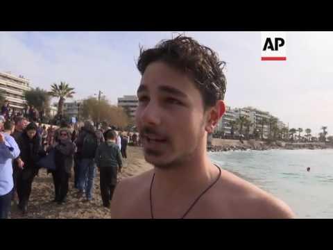 Cross retrieved from water in Greek tradition