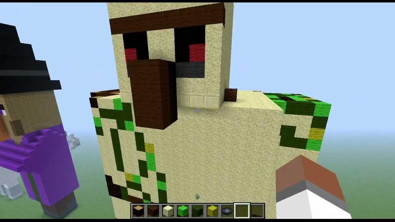Tuto statue du golem de fer fr 1er partie youtube - Minecraft golem de fer ...