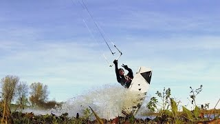 Kiteboarding a private lagoon _ kiteboarding the netherlands _ # ben's quick clip