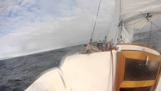 rough cut - Sage 17 crossing Stait of Juan de Fuca: tide rip and wave