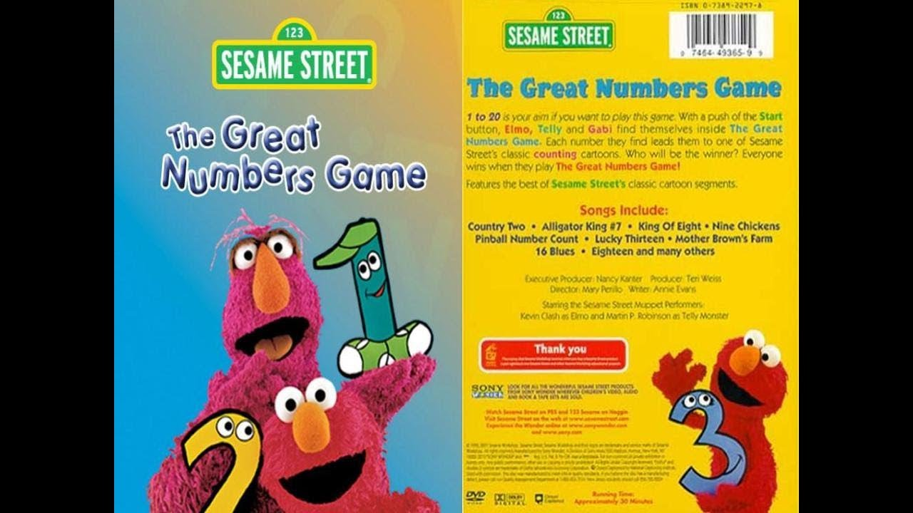 VHS Reactions Season 1 Episode 8: Opening To Sesame Street The Great  Numbers Game 1998 VHS