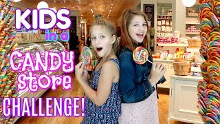 Kids in a Candy Store Challenge! Candy Store Scavenger Hunt Game Annie v Hope