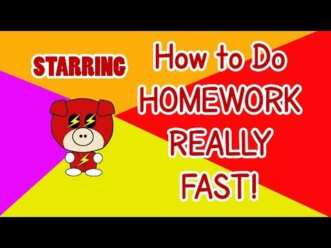 How to do homework fast - For Real! - Superhero Edition
