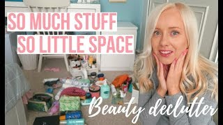 DECLUTTER WITH ME | MAKEUP/BEAUTY/HAIR PRODUCTS
