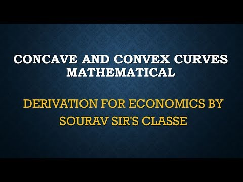 CONCAVE AND CONVEX CURVES MATHEMATICAL DERIVATION FOR ECONOMICS BY SOURAV SIR