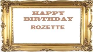 Rozette   Birthday Postcards & Postales - Happy Birthday