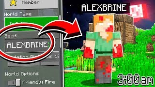 Do NOT Use The ALEXBRINE Seed in Minecraft at 3:00 AM!