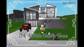 75K Hillside Family Home | Roblox Bloxburg |