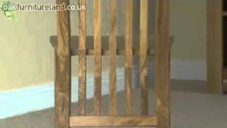 Solid Oak High Slat Back Dining Chair From Oak Furniture Land