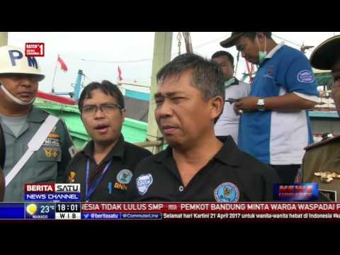 Petugas Gabungan Razia Pelabuhan Kota Tegal