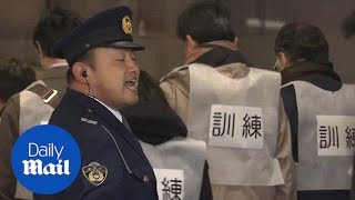 Japan preps for North Korean missile attack with evacuation drill - Daily Mail