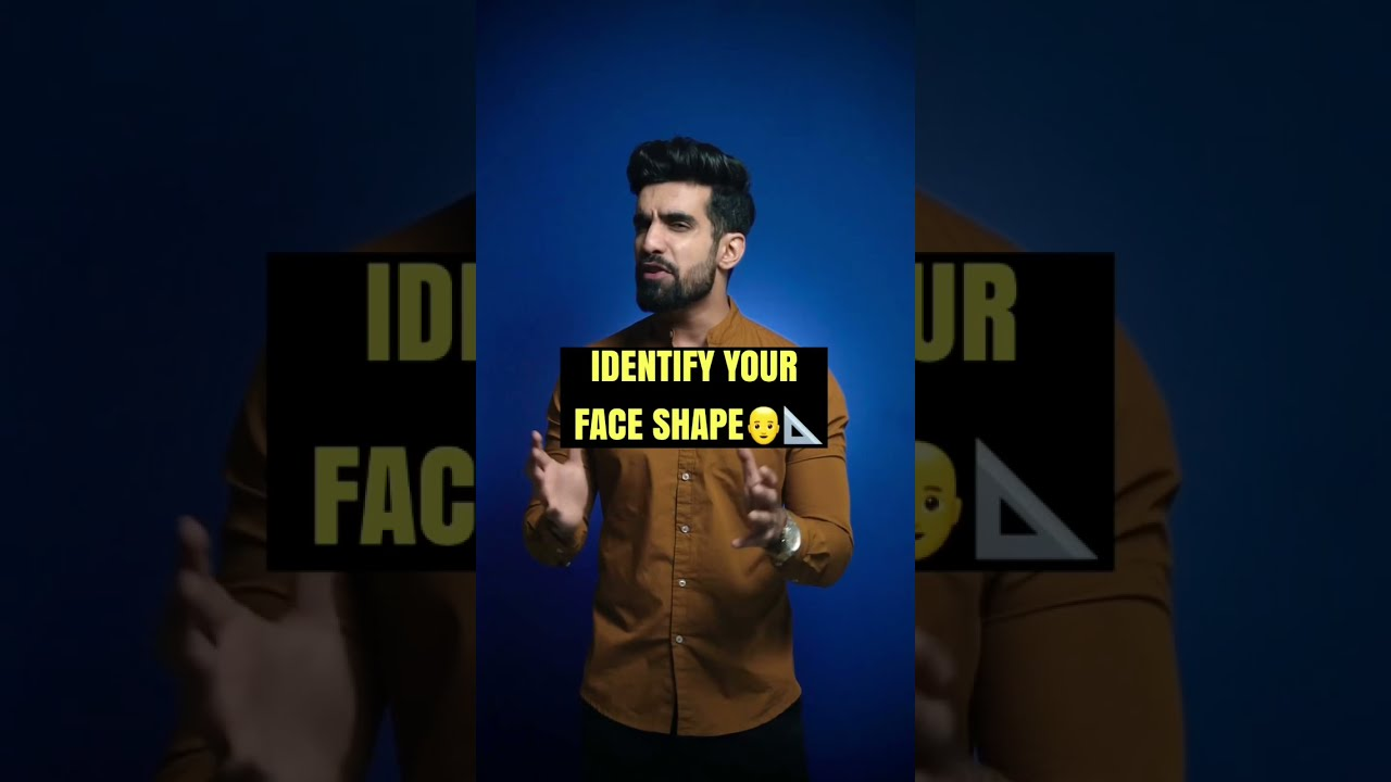 Identify your FACE SHAPE👨🦲📐 in 2 mins #shorts #faceshape