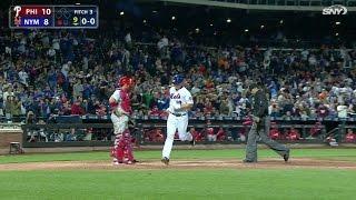 PHI@NYM: Bruce smacks first career pinch-hit home run