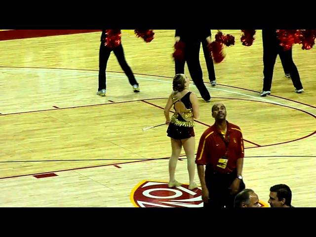 2011 USC Baton Twirlers at the UCLA Basketball Game Gina and Jena Bartoli