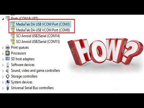 How To Manually Install MT65xx MediaTek USB VCOM Drivers On A Windows PC